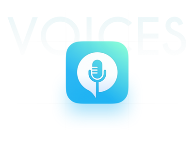 Voices I home mobile microphone notes voice app ios icon