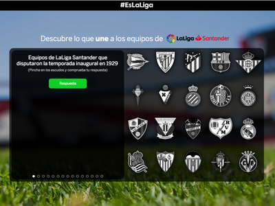 Game for spanish soccer league, LaLiga sports fotball desktop ui ux ui soccer trivia web game