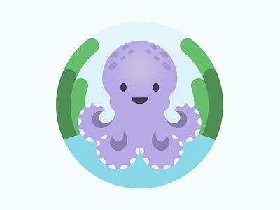 Octopus Illustration nursery baby kids nautical beach sea octopus animal cute flat illustration vector illustration