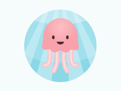 Jellyfish Illustration illustration vector flat illustration cute animal jellyfish sea beach nautical kids baby nursery