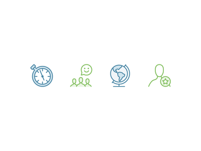 Icons for Ideal employment recruitment hr tech software icon flat line art vector