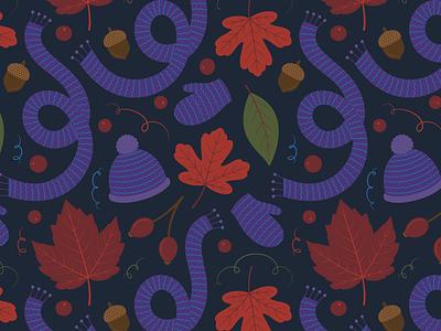 Fall Surface Pattern Design pattern adobe illustrator plants botanical nature flat illustration vector illustration vector surface pattern autumn fall