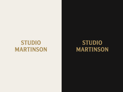 Studio Martinson Logo vector wood gold dark tough manly rustic typography logotype woodworking logo