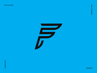 Flax Paddles Logo vector design dark branding typography f letter f fast logomark canoe kayak logo agressive cyan draplin mark