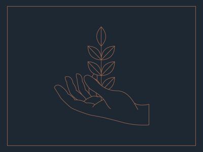 Hand + Plant