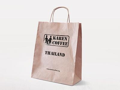 Karen Coffee Paper Bag mockup paper bag packaging