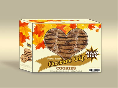 Cookies Box psd mockup product packaging