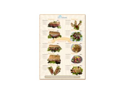 Sandwich Menu Small scalable vector graphic menu design food menu