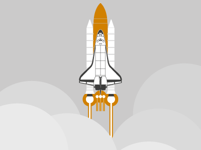 1981-2011 shuttle nasa spaceshuttle 1981 2011 illustration vector