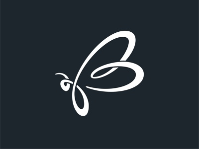 B for Bee monogram logo handlettering script lettering brush lettering calligraphy bee brand identity monogram design custom type logo branding typography type lettering abstract design illustration vector