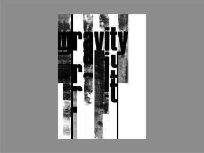 Gravity illustration design lettering abstract poster a day type design type art graphic design poster art poster design typographic typography blankposter linopress lino print letraset gravity