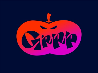 Grrrrr!! script lettering brush pen halloween2020 creepy handlettering calligraffiti calligraphy brush lettering grrr pumpkin halloween custom lettering type design letters custom type typography type lettering illustration vector