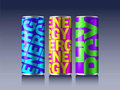 Energy drink - mockup brand identity identity design soda soda can drinks realistic mockup can energy drink mockup design mockup template geometric vector illustration tin can mockup branding typography design illustration vector