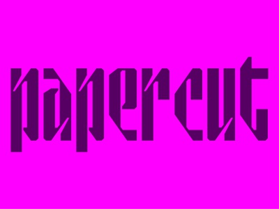 Papercut Display bold font customtype display display type display font papercut font design font awesome logotype letters custom lettering type design branding geometric custom type abstract typography type lettering