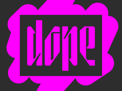 dope :p inktrap dope pink stencil spraypaint custom typography custom lettering display typography display font condensed type stencil logo stencil font stencil art font awesome custom type typography type lettering
