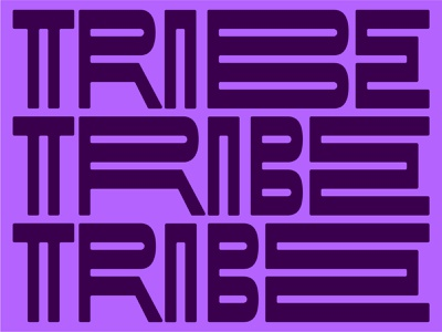 Tribal vibes strokes lines graphic design monogram pattern tribe tribal font modular minimalism letters display logotype logo design abstract branding lettering typography type