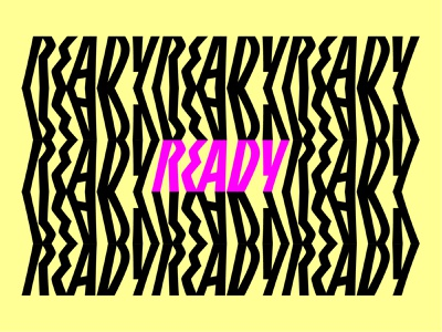 Are you ready??? font ready monogram logotype graphic design pattern hand lettering custom lettering letters logo design branding lettering illustration typography type vector