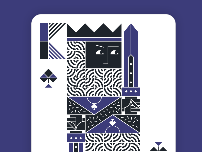 King of Spades closeup :) vector spades cards playing king illustration geometry face card abstract