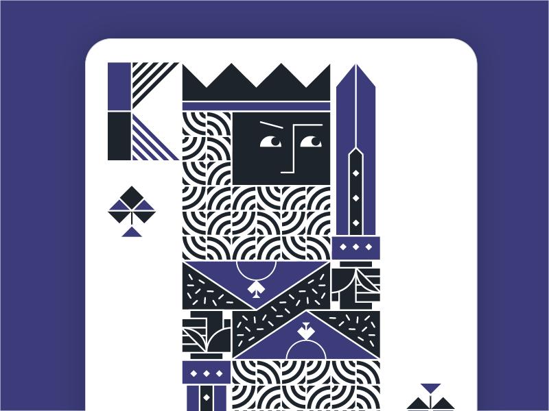 King spades dribbble 2