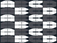 Modular brutalist type experiment