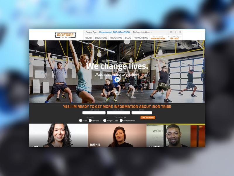 Fitness Website fitness web  design