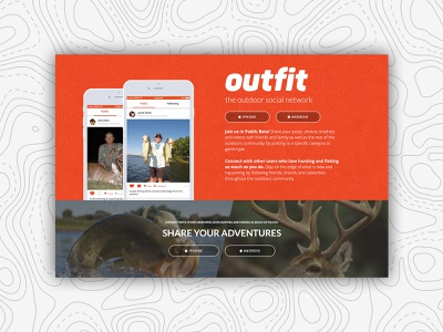 Outdoor Social Network Website social app website