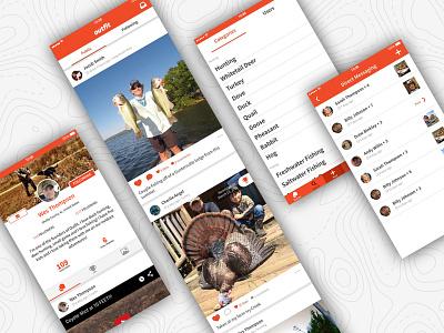 Outdoor Social Network App android app ios app app design social app app