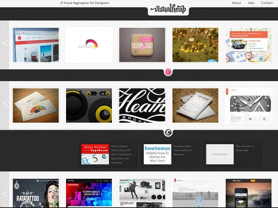 Dribbble Shot 800x600 Visualheap Web web dark