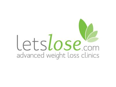 LetsLose logo simple clean green grey
