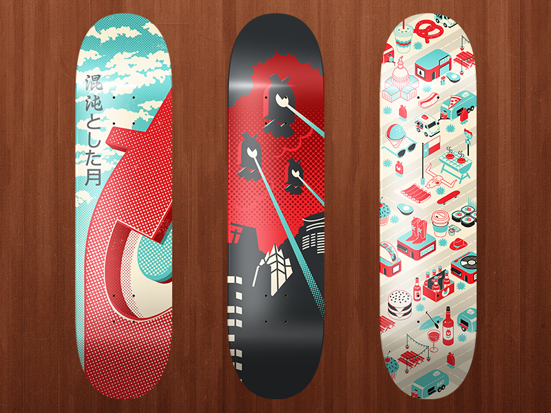 Skateboards By Chaotic Moon Studios On Dribbble