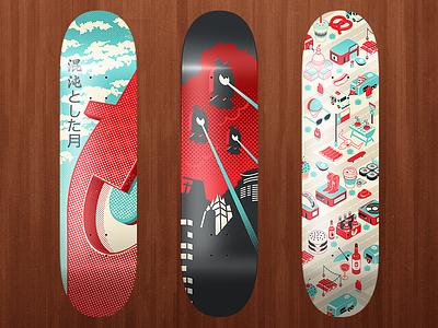 Skateboards skateboards skate decks design illustration boards awesome