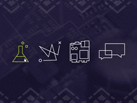 Icons set for client project