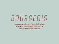 Bourgeois MyFonts Banner 1