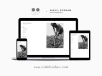 Nikhil Roshan's SquareSpace Website