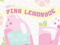 Pink Lemonade Font & extras