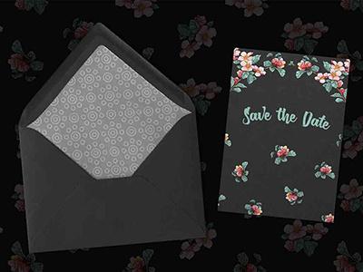 Apple Blossom RSVP vector pattern ink watercolor rsvp wedding design apple blossom
