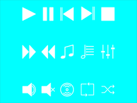 Music Icon Set ( Solid )