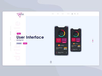 portfolio website ui design ui designer illustration app animation creative  design ui ux design userinterfacedesign portfolio design adobe xd