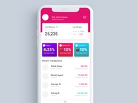 financial app concept