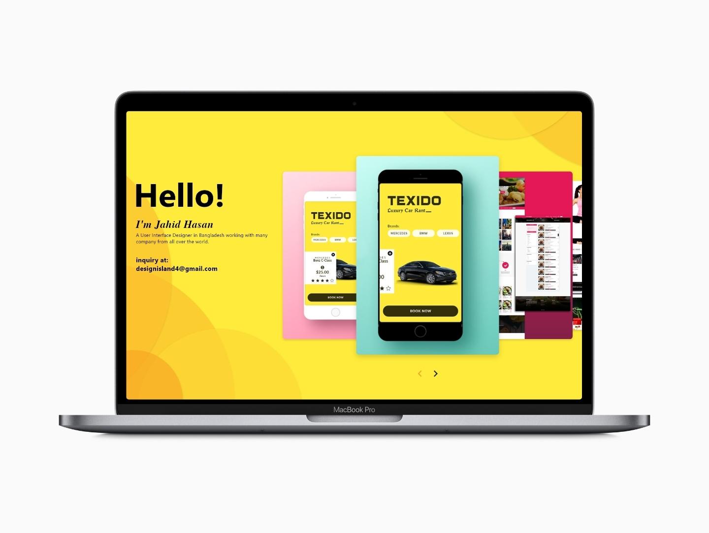 Freelancer Graphic Designer Simple Portfolio design creative  design ui landing page design webpage design portfolio webdesign website concept portfolio page portfolio design