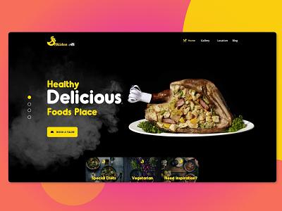 restaurants website concept app design adobe xd creative  design ux  ui wedesigns webdesigner designer userinterfacedesign ux ui design ui deisgn dailyui uxdesigning interface