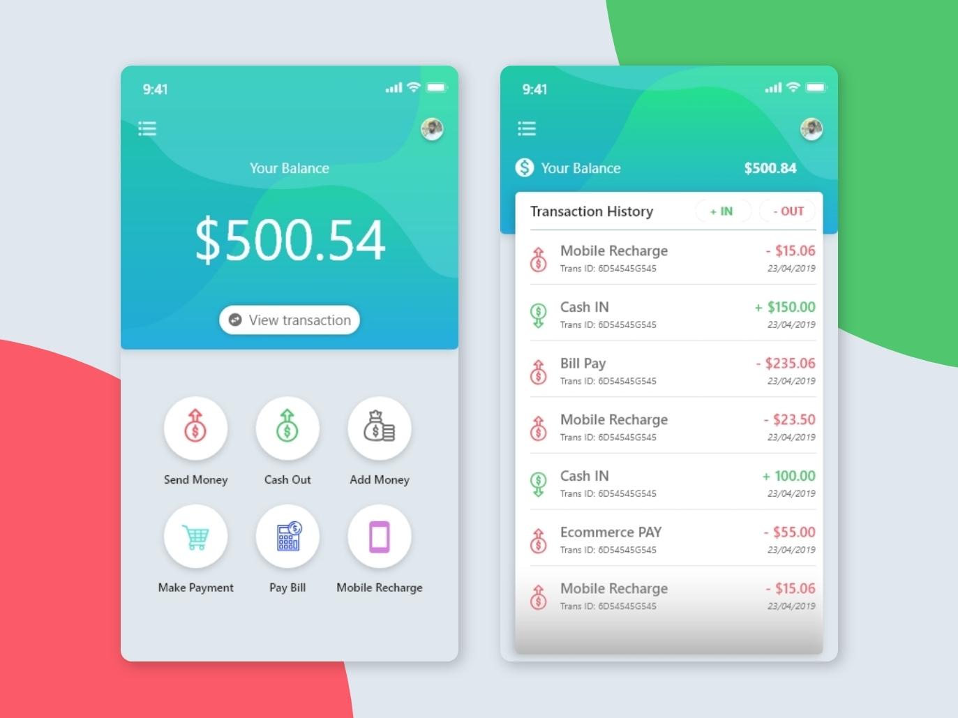 Mobile Banking design ux ui app designer app concept app design app dashboard ui designer userinterfacedesign typography portfolio design adobe xd creative  design app ui