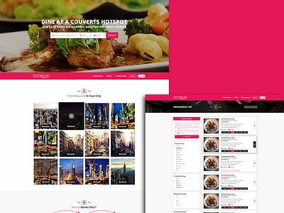 Website UI design: gooischerestaurants.nl typography logo ux ui illustration vector creative  design userinterfacedesign portfolio design adobe xd