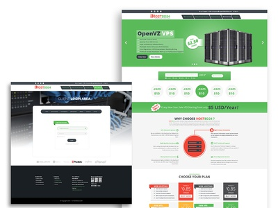 Hosting website template design