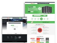 Hosting website template design