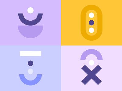 Instagram Highlights graphic design unikorns flat minimal icon illustration vector graphics design branding interface ux ui