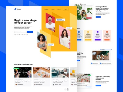 Stages Website - Main Page startup web design website unikorns web design interface ux ui