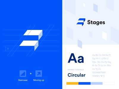 Stages Logo logo design logotype design unikorns interface ux ui minimal typography vector branding logo