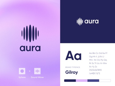 Aura Logo logo branding web unikorns application app design ux interface ui