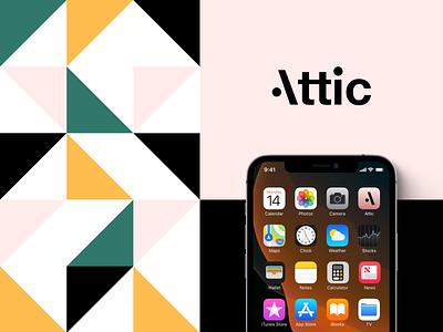 Attic - Brand Identity illustration branding logo application app design ux interface ui unikorns
